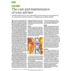 Nature article: The care and maintenance of your adviser
