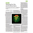 Nature article: Waiting for the motivation fairy