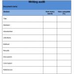 Writing Audit