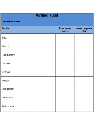 Writing Audit